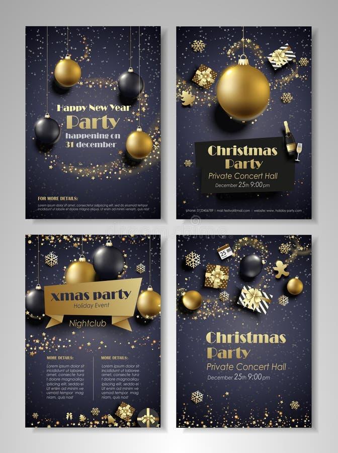 Download Flieger Des Neuen Jahres Und Des Weihnachtsfests Vektor Abbildung - Illustration von kugel, feuerwerke: 106801632