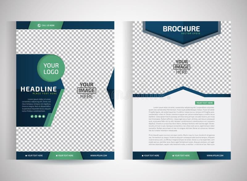 Fliegerbroschüren-/-Jahresbericht/design-Schablonen des abstrakten Vektors moderne/Briefpapier mit weißem Hintergrund an Größe a4 lizenzfreie abbildung