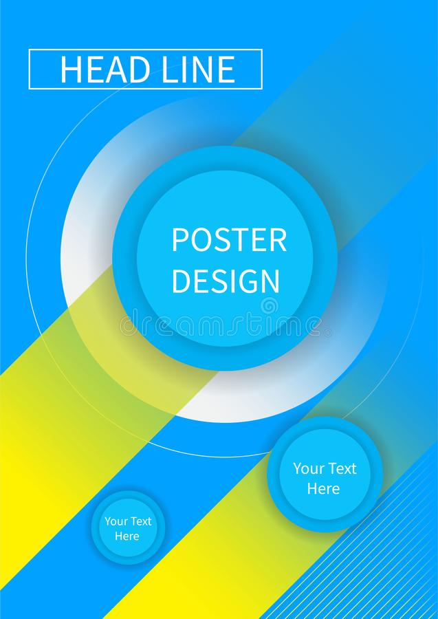 Fliegerbroschürenentwurf, Schablone der Geschäftsflieger-Größe A4, kreative Broschüre, Tendenzabdeckungsdreiecke lizenzfreie abbildung