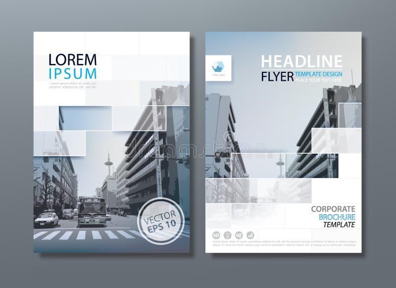 Fliegerdesign-Schablonenvektor, Broschüre, Bucheinbandschablonen stock abbildung