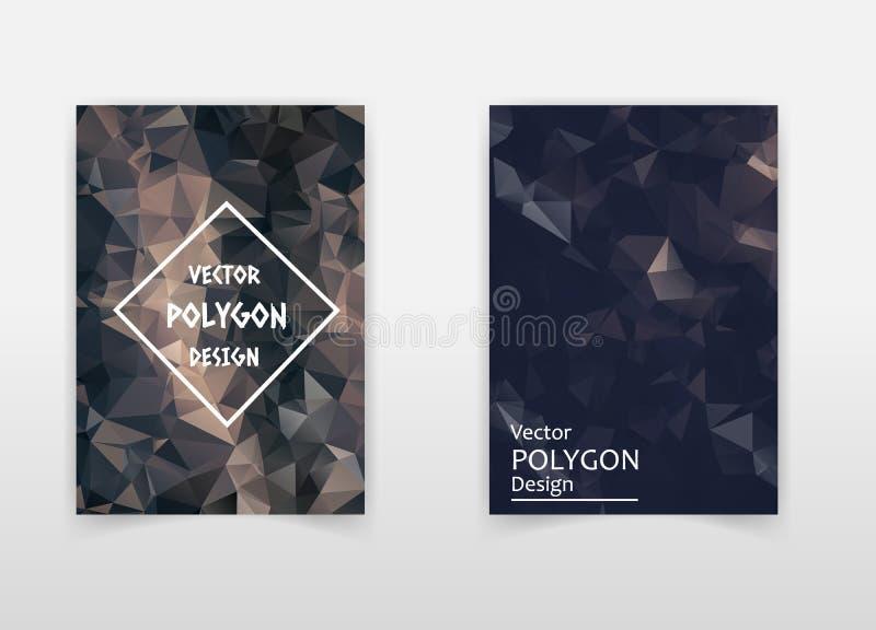 Fliegergrafikdesign-Schablone der Zusammenfassung niedrige Polyart der bunten polygonalen vektor abbildung
