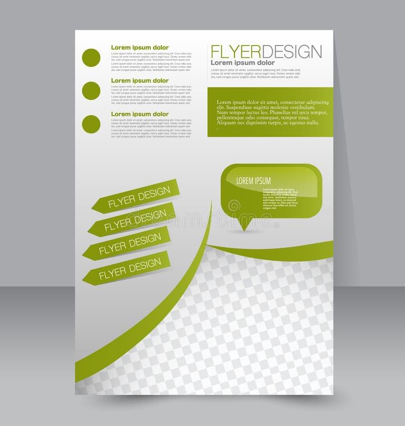 Fliegerschablone Blaue abstrakte Planschablone mit Quadraten Editable Plakat A4 stock abbildung