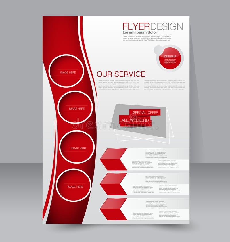 Fliegerschablone Blaue abstrakte Planschablone mit Quadraten Editable Plakat A4 vektor abbildung