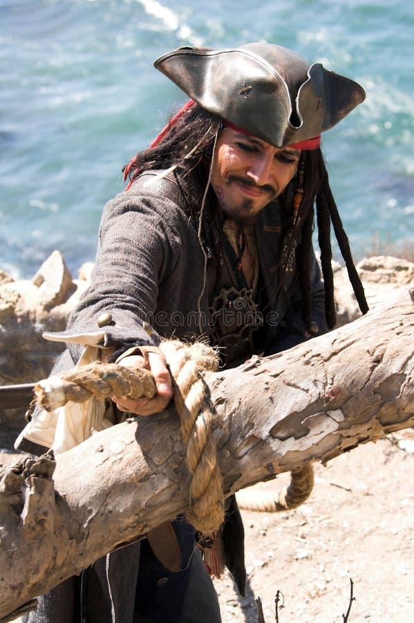 Fliehender Pirat stockfotos