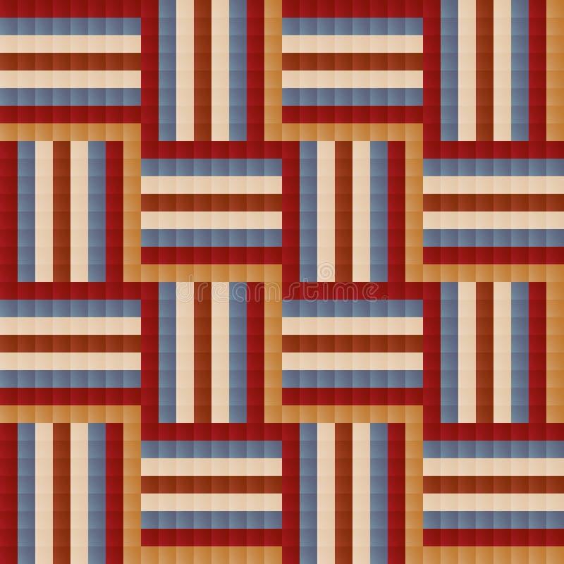 Fliese Ähnliches abstraktes geometrisches nahtloses Musterdesign vektor abbildung