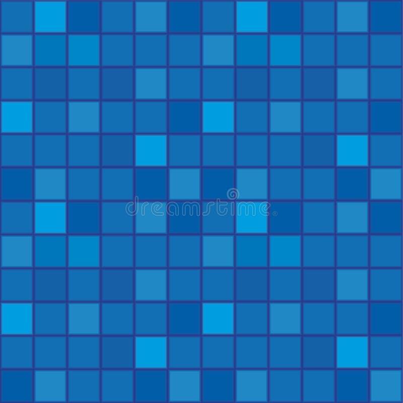 Fliese-Mosaik von dunkelblauem vektor abbildung