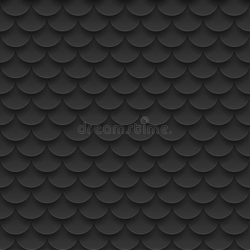 Fliese, nahtloses Muster der Fischschuppen stock abbildung