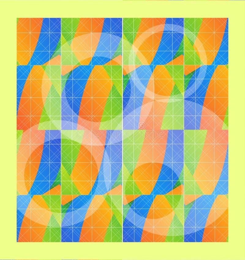Fliesen färbten Gitterlinie Hintergrundbeschaffenheit lizenzfreie abbildung