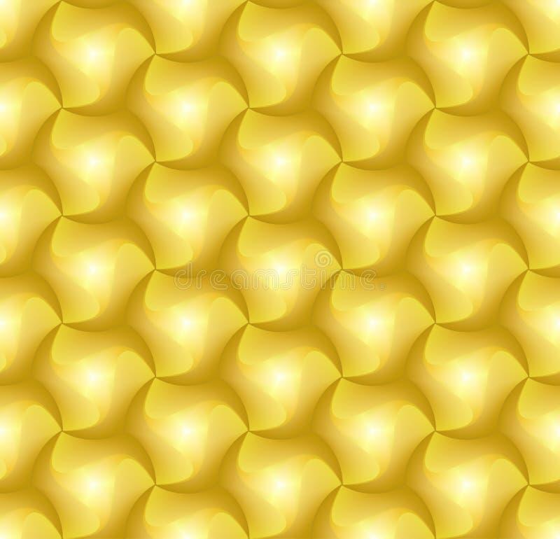 Fliesen-Ziegelsteinmuster des Hexagons 3d für Dekoration und Entwurfsfliese lizenzfreie abbildung
