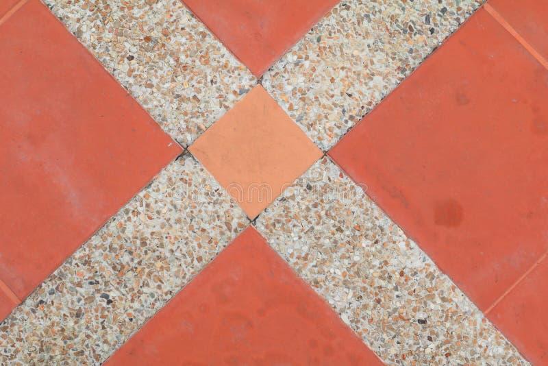 Fliesenboden-Beschaffenheitssandstein- oder Steinwäschehintergrund lizenzfreies stockbild