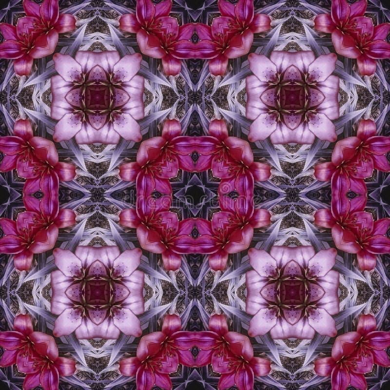Fliesenkaleidoskopblumen stockbild