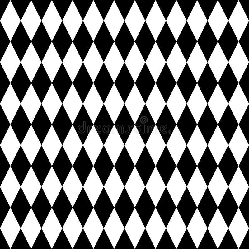Fliesenschwarzweiss-Hintergrund oder Vektormuster vektor abbildung