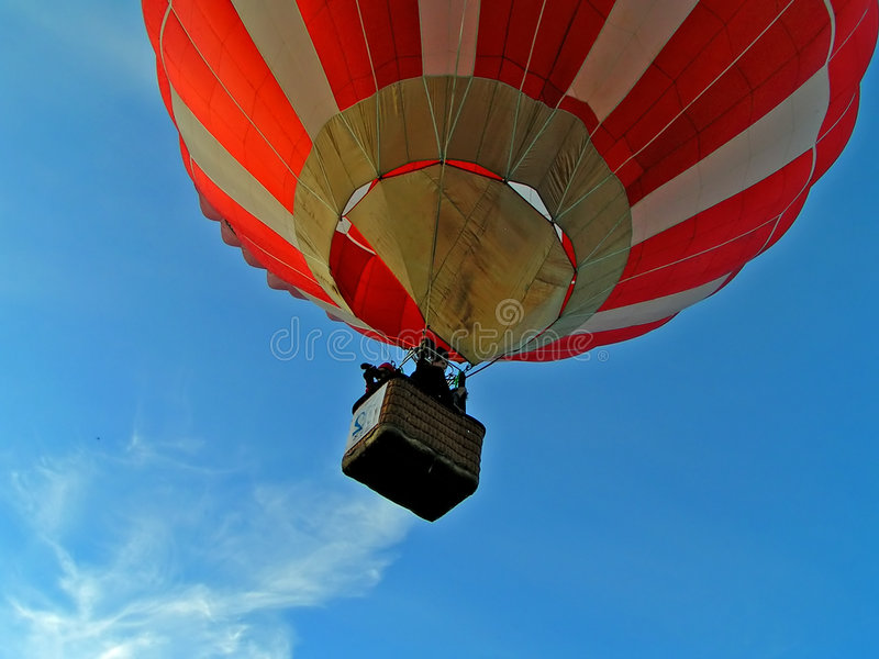 Flight on air-balloon stock photo