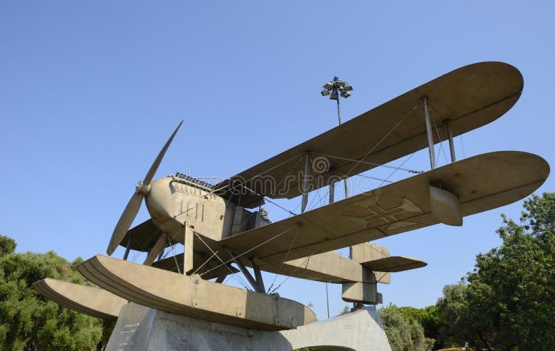 Flight Atlantic monument. Monument to the first flight across the South Atlantic, Belem, Lisbon, Portugal stock photo