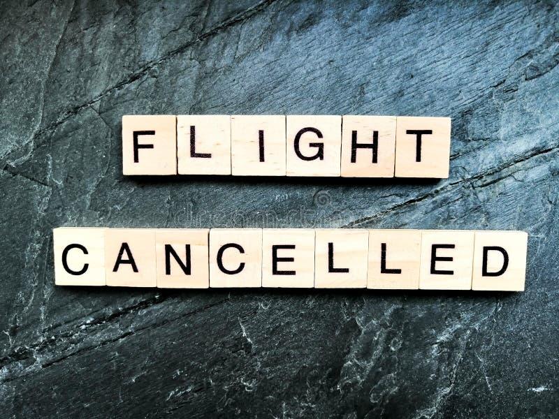 Flight canceled on grey background stock images