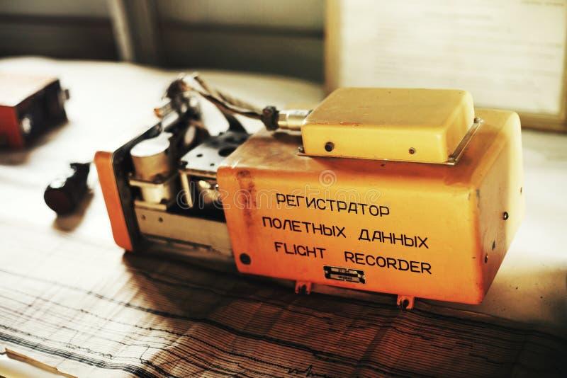 Flight Data Recorder Black Box stock photo