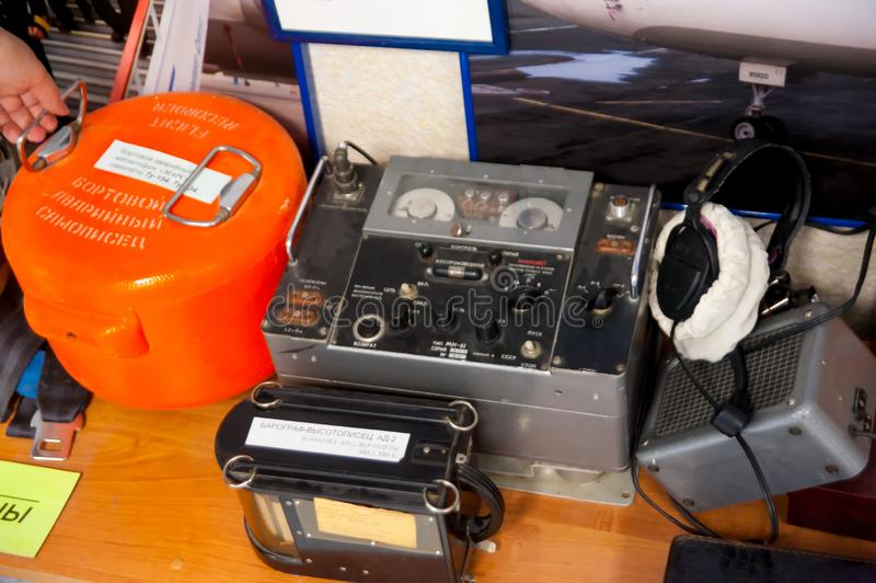 Flight data recorders from a plane. Black boxes royalty free stock photos