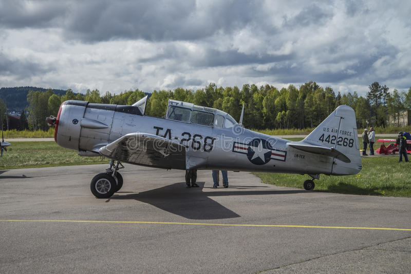 Flight day 11 May, 2014 at Kjeller (airshow) royalty free stock photography