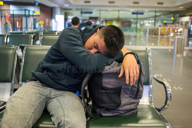 Flight delay is the worst nightmare of everybody. Flight delay is always the worst nightmare of everybody royalty free stock images