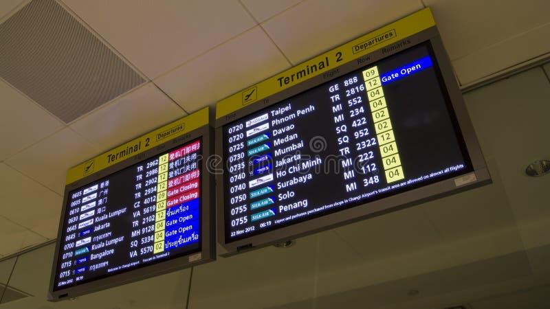 Flight Departure Information Asia Countries stock photos