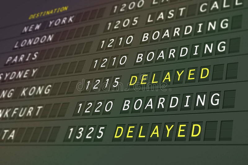 Download Flight Departures - Delayed Royalty Free Stock Photography - Image: 4490197