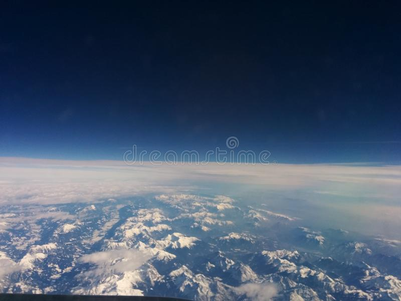 Flight europe travel royalty free stock image