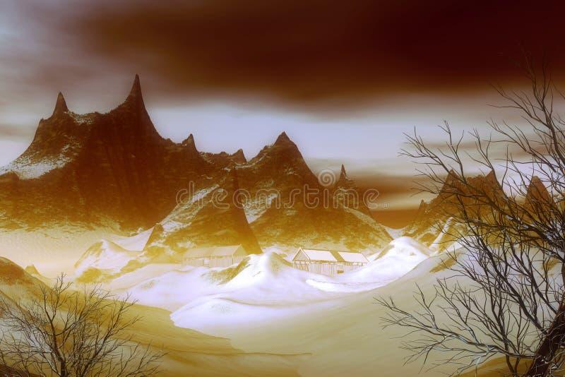 Download Flight of fantasy_6 stock illustration. Image of mountains - 26945593