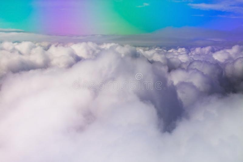 Flight images with clouds royalty free stock images