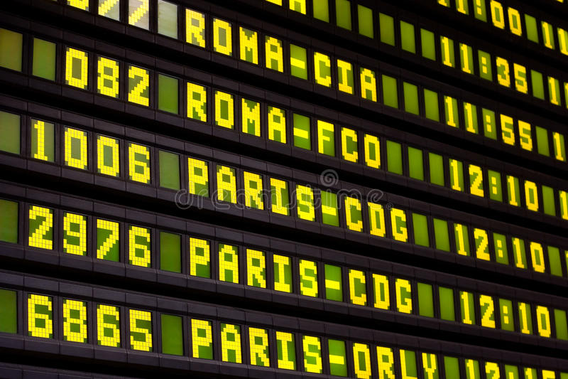 Flight Info Board stock images