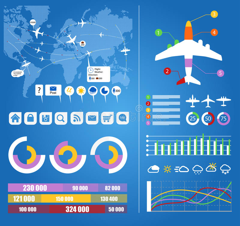 Download Flight Infographic Elements Stock Vector - Image: 26194714