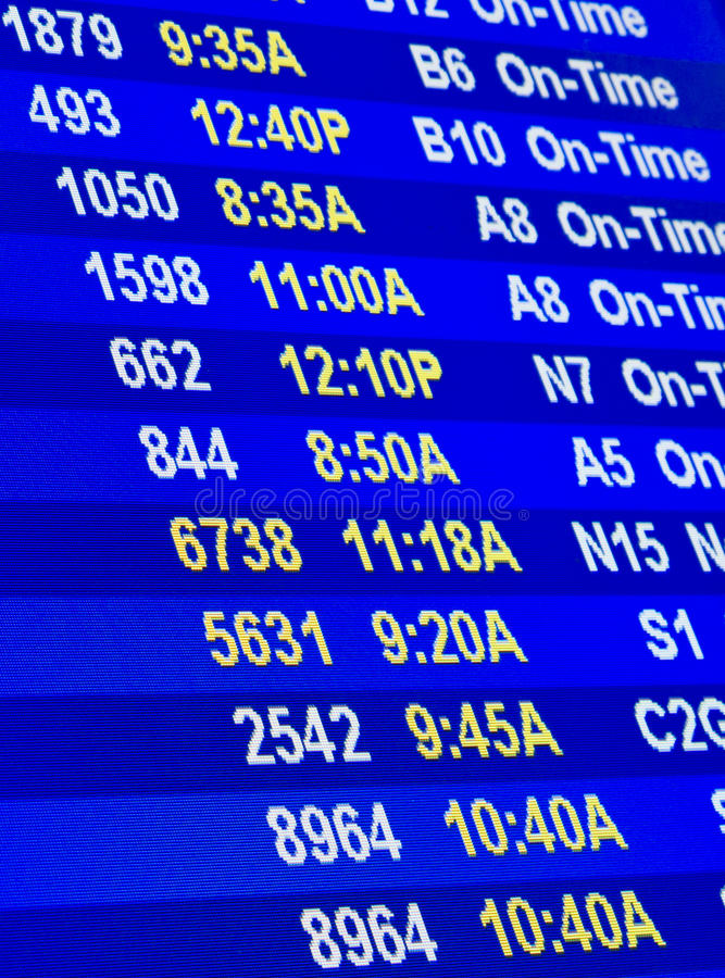 Flight information royalty free stock photography