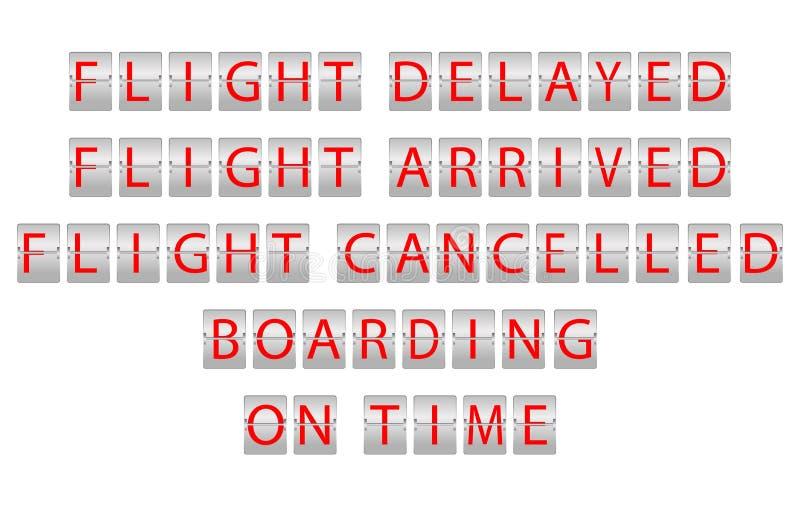 Flight information board stock illustration