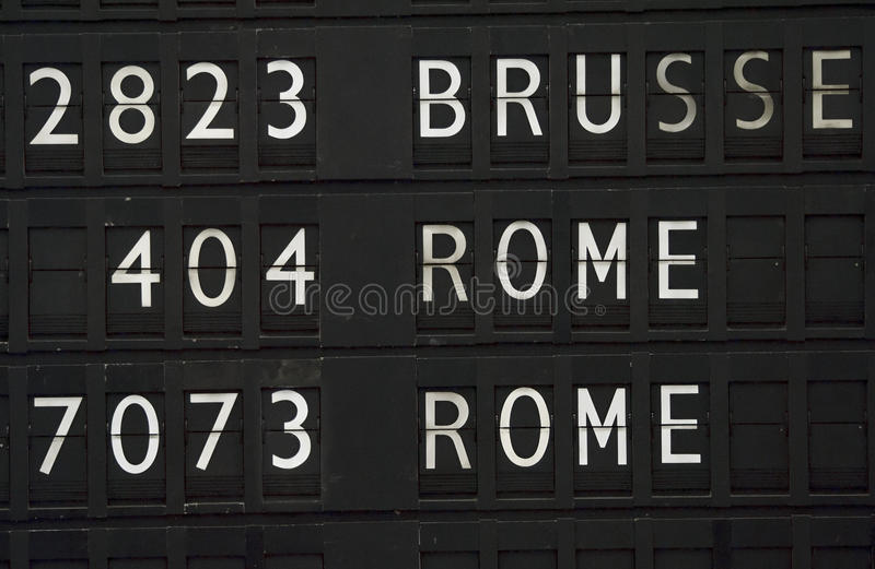 Flight information for Rome