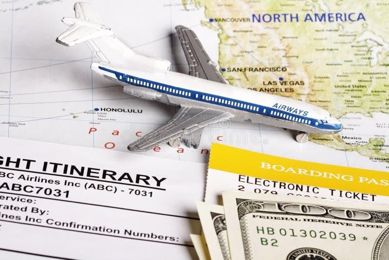 Flight itinerary royalty free stock photos