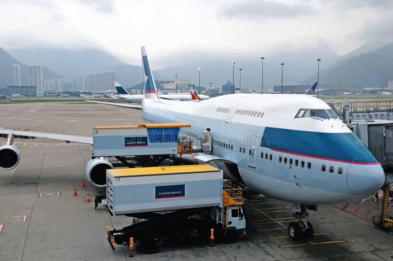 Flight loading cargo royalty free stock images