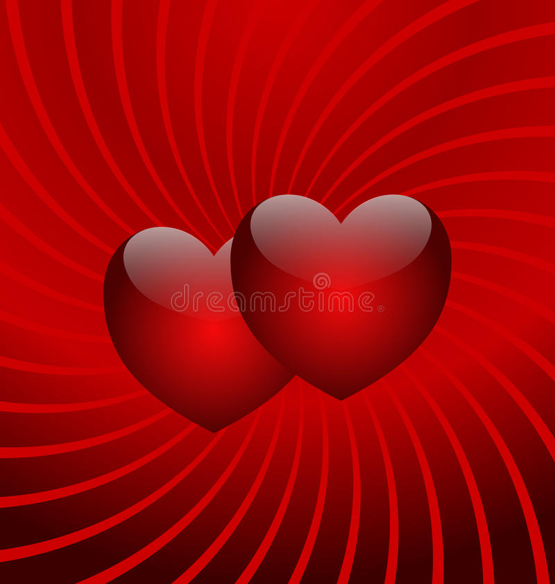 Free Flight Of Two Hearts Royalty Free Stock Photography - 9979127
