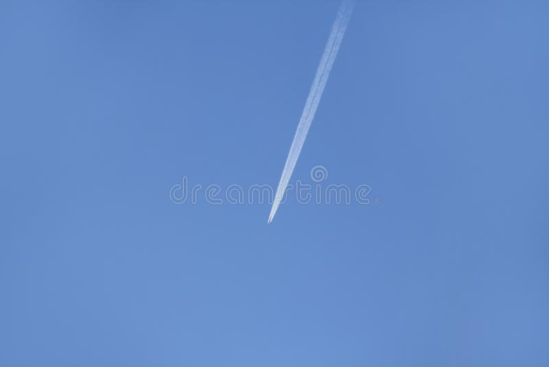 Flight of the plane sky stock image