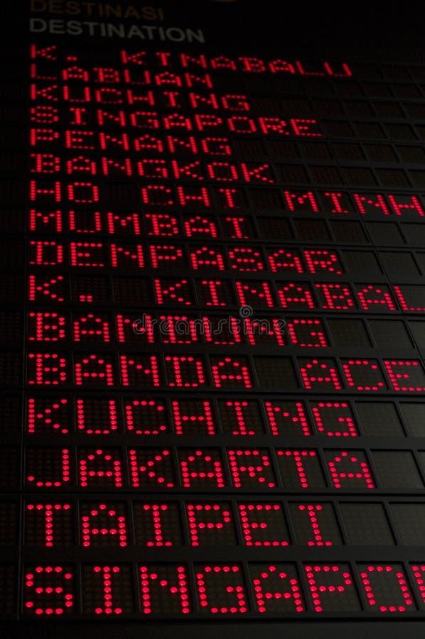 Flight Schedule Stock Images