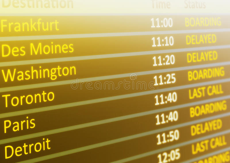 Download Flight schedule stock illustration. Image of board, destination - 20242966
