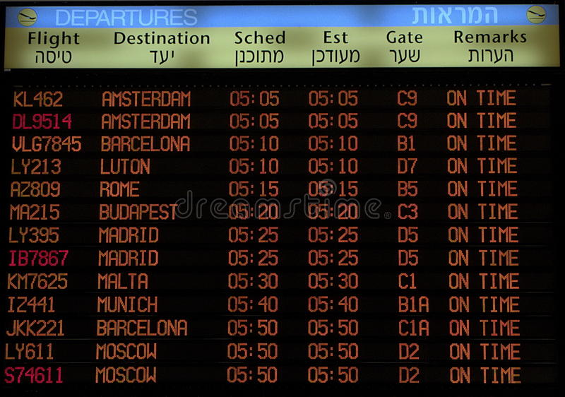 Download Flight Schedule board sign editorial image. Image of itinerary - 23641680