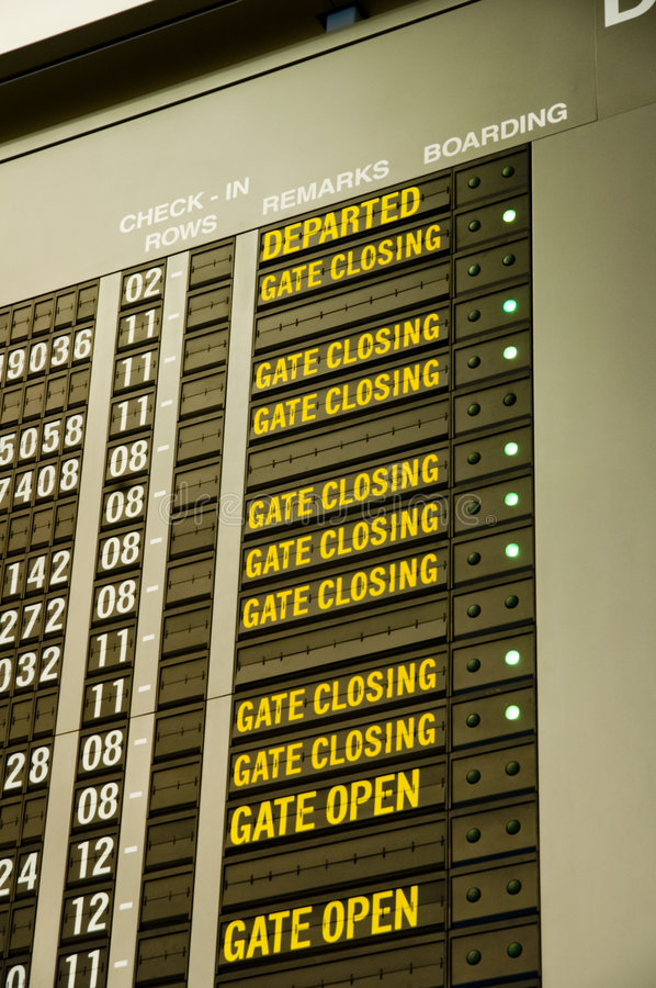 Flight Schedules Stock Images