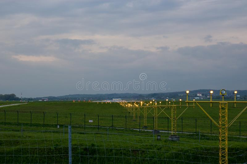 Flight security lights and landing strip stock image image of download flight security lights and landing strip stock image image of security flight mozeypictures Image collections