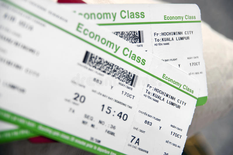 Flight Ticket. Economy Class Vietnam to Kuala Lumpur Flight Ticket