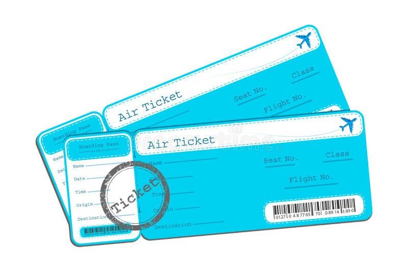 Flight Ticket. Illustration of flight ticket on isolated background vector illustration
