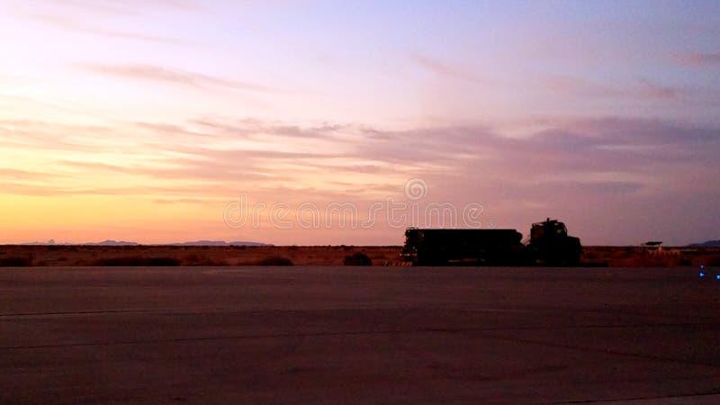 Flightline. Alternate landing field stock images