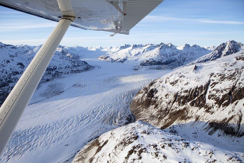 Flightseeing en Alaska suroriental imagen de archivo libre de regalías