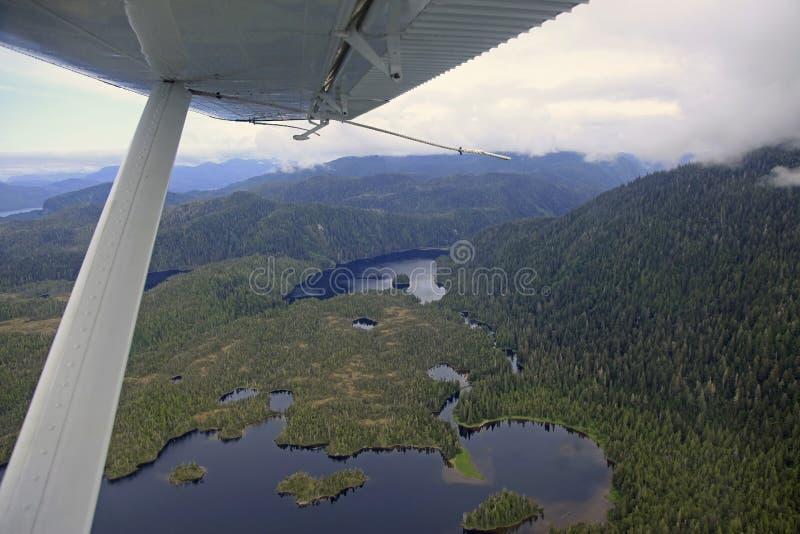 Flightseeing Misty Fjords royalty-vrije stock foto