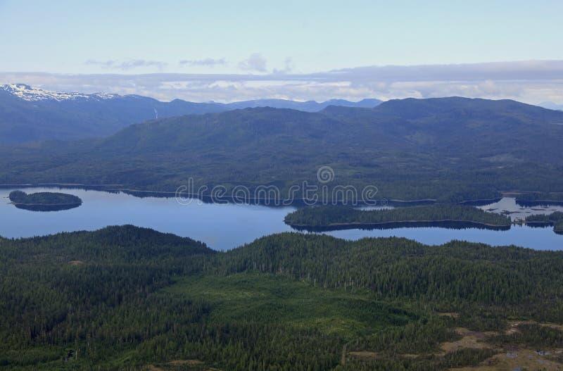 Flightseeing Misty Fjords royalty-vrije stock afbeelding