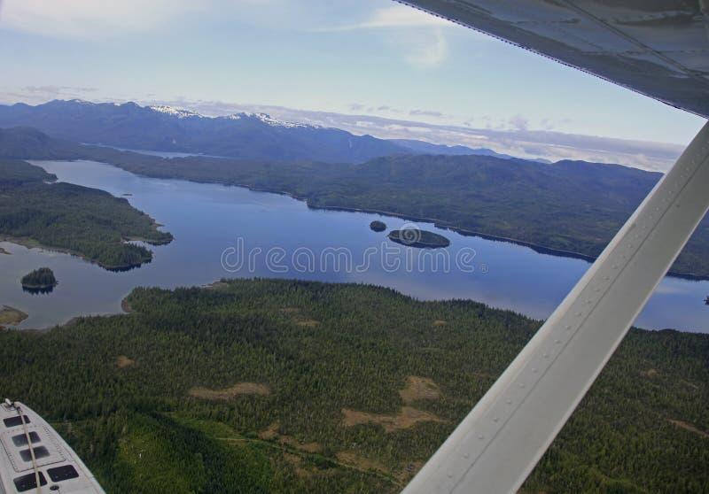 Flightseeing Misty Fjords fotografia stock