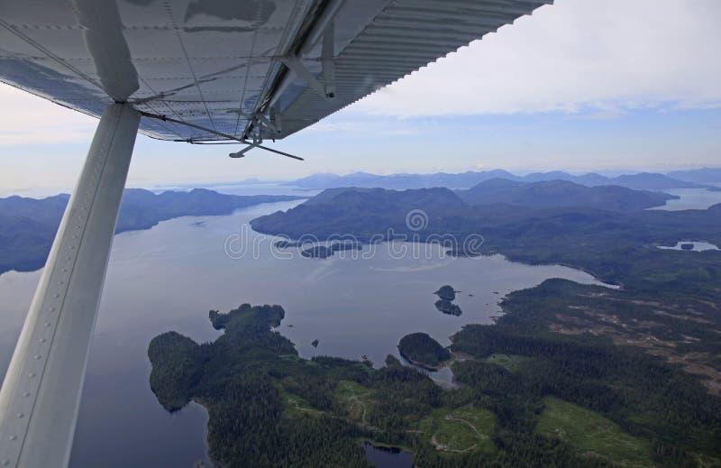 Flightseeing Misty Fjords imagem de stock